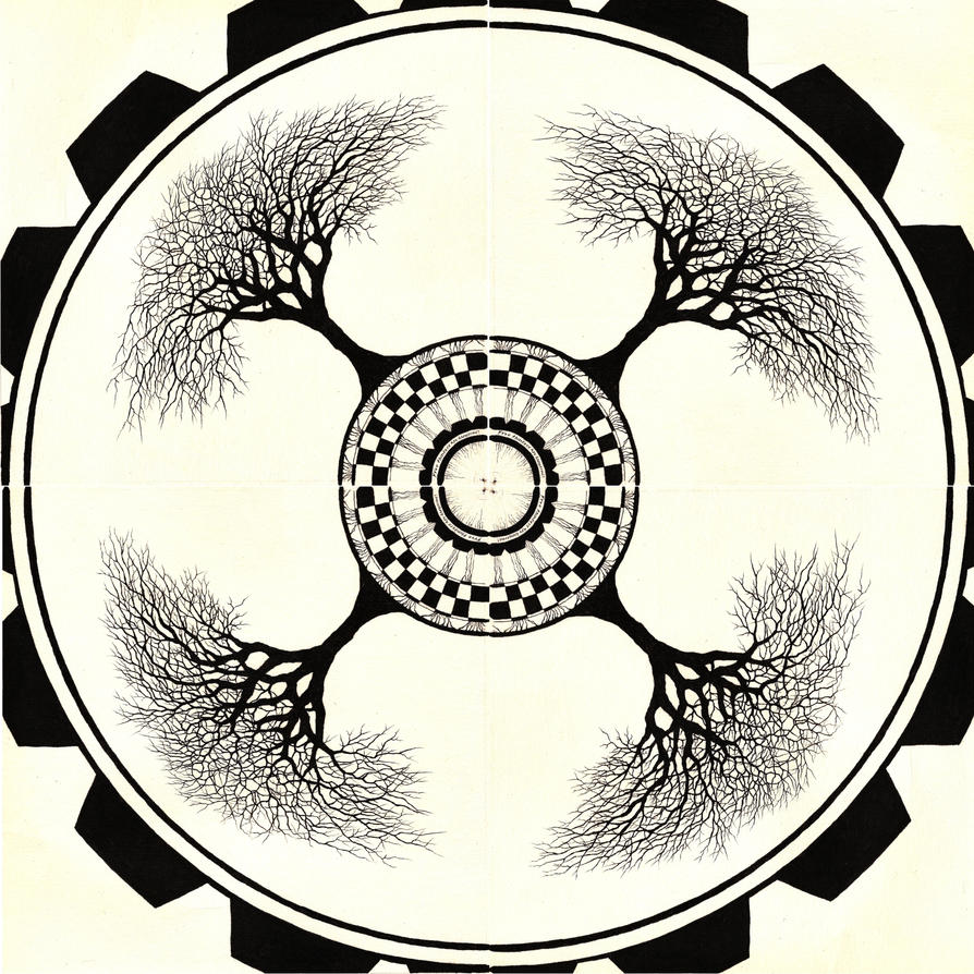 Radial Design Art : Radial symmetry by alternate deviant on deviantart