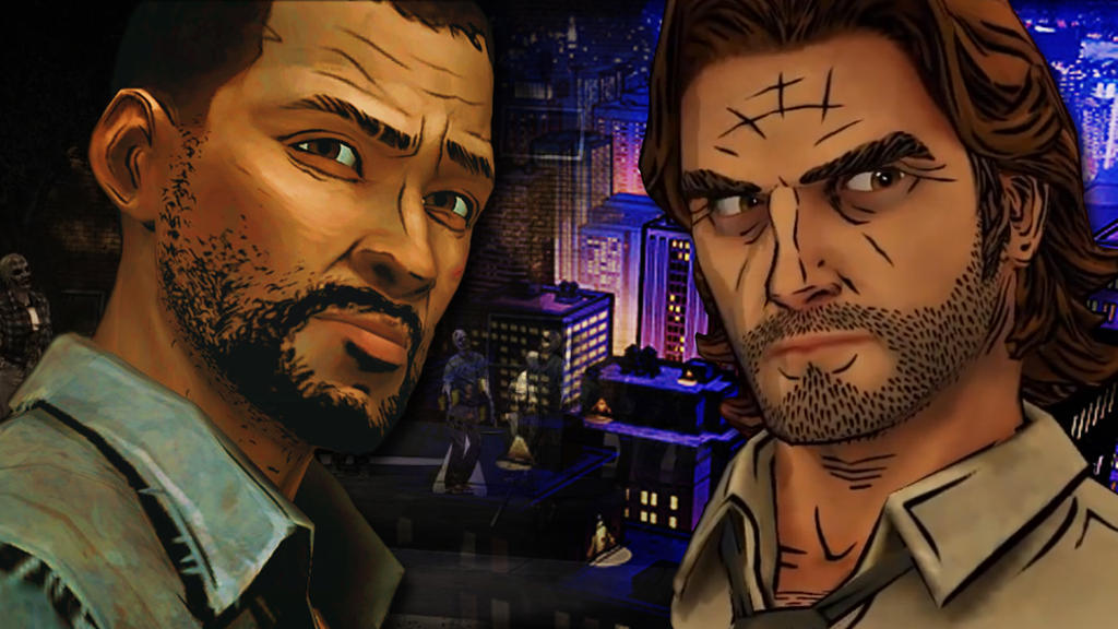 Lee and Bigby Wallpaper by ZoraSteam