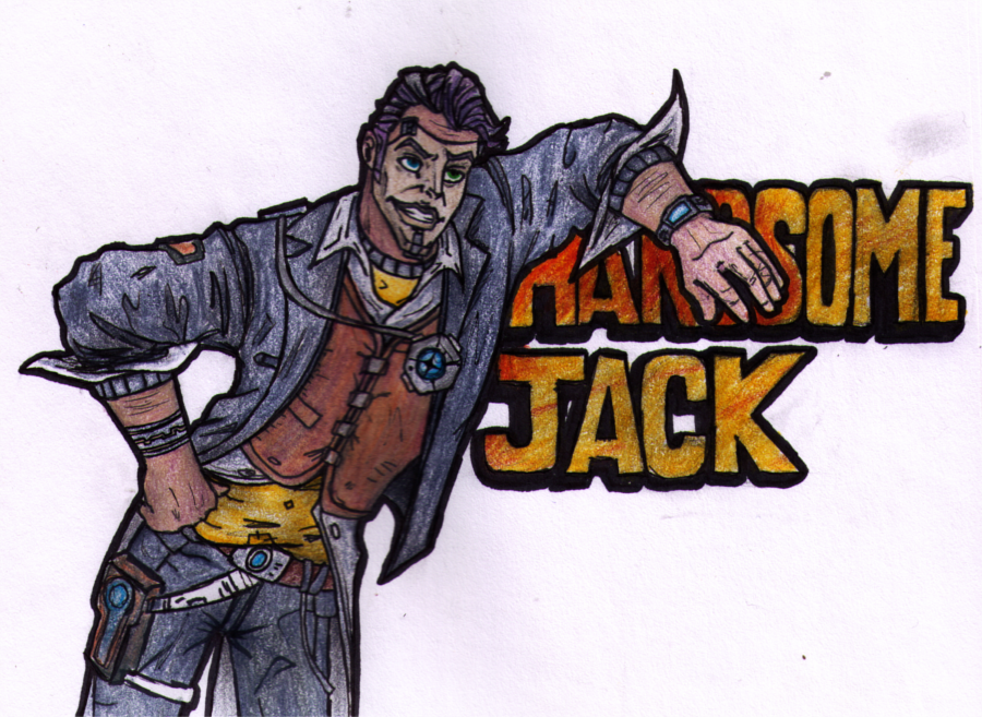 Handsome Jack {OUTLINED, COLORED AND SCANNED YAY!} by ZoraSteam