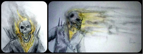 Ghost rider quick drawings