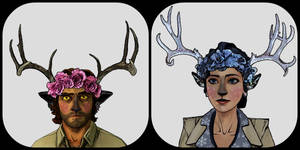 Bigby and Snow fauns :3