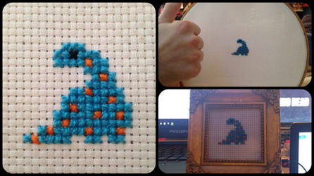 Cross stitch dino
