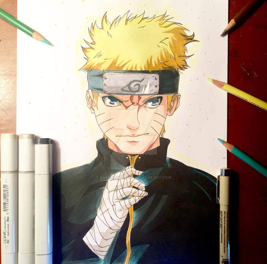 Drawing naruto the last by kamehamehart