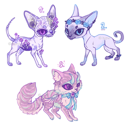 Pastel Goth Cats Auction -CLOSED-
