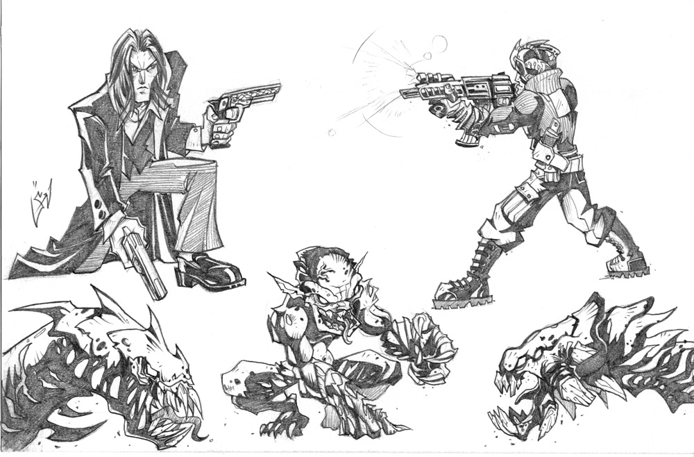 The Darkness Contest Sketches by cruzarte