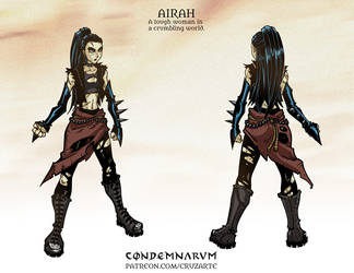 Character Sheet - AIRAH by cruzarte