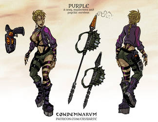 Character Sheet - PURPLE by cruzarte