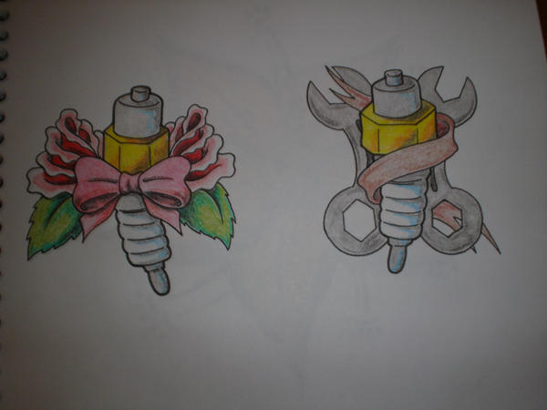 his and hers spark plugs by freddyferd on deviantart. Black Bedroom Furniture Sets. Home Design Ideas
