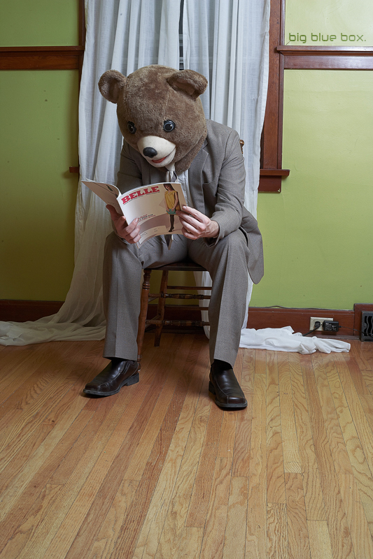 Bearly reading. by DeanMcClelland