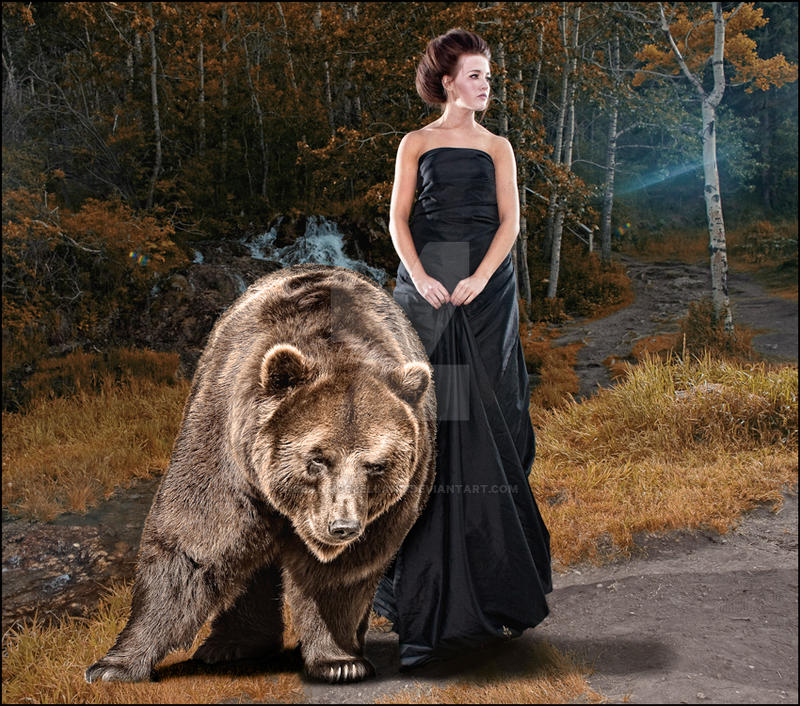 The Lady and the Bear. by DeanMcClelland