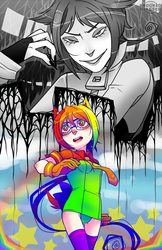Bye Bye Color Girl Print by Krooked-Glasses