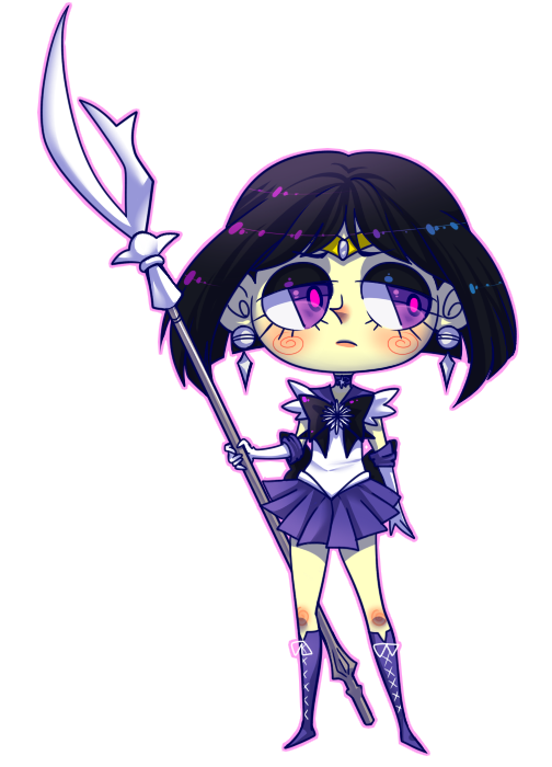 SD Commission Example - Sailor Saturn by Krooked-Glasses