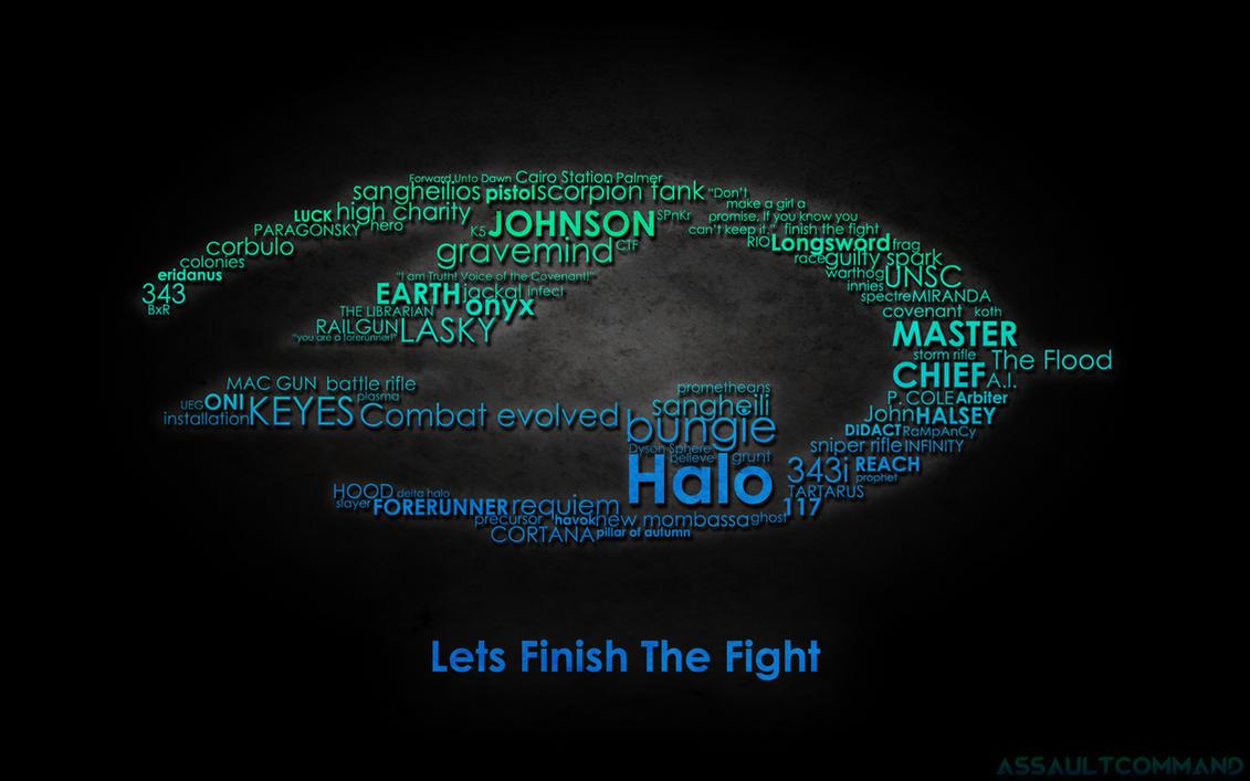 Halo 4 Typography Wallpaper by Floodgrunt