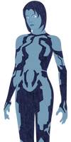 Halo 3 - Cortana (vector art)
