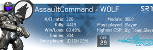 Halo 4 Gamercards - AssaultCommand