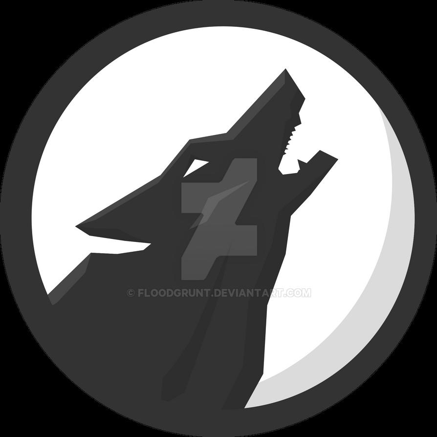 December 2017 Moon >> Wolf Emblem by Floodgrunt on DeviantArt