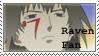 Raven Stamp by LlamaTHEDragon