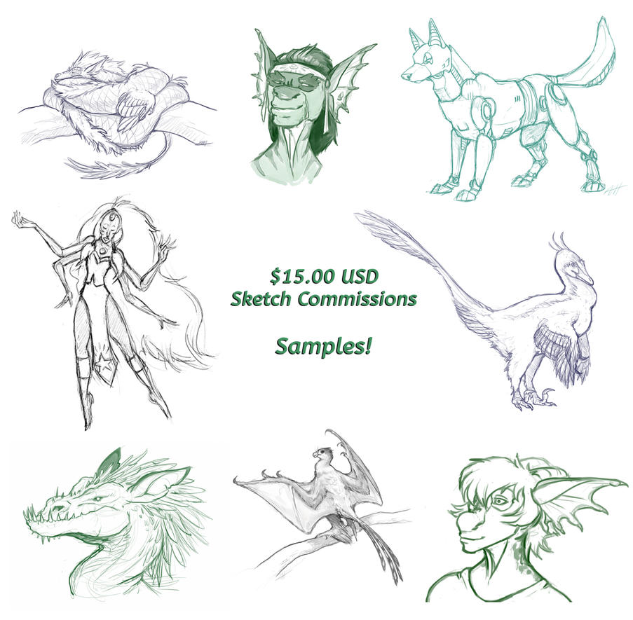 Sketch Comms by LlamaTHEDragon