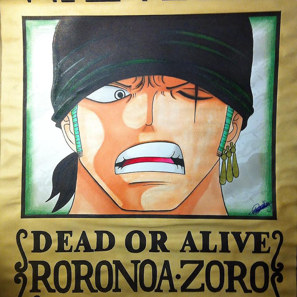 My Drawing-Wanted of Roronoa Zoro, After 2 Years. by ...
