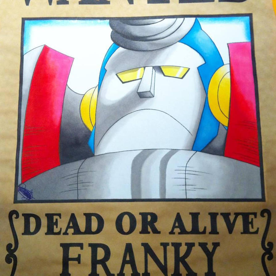 my drawingwanted of franky after 2 years by loloow on