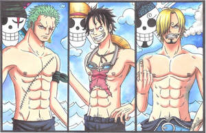 One Piece - The Monster Trio. by LoLoOw