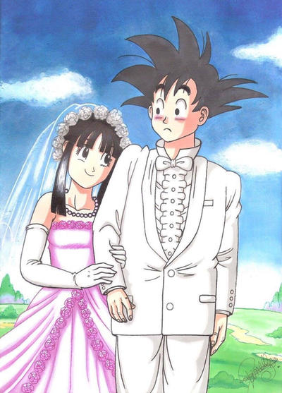 Dragon Ball - Wedding of Goku and Chi-Chi. by LoLoOw on DeviantArt