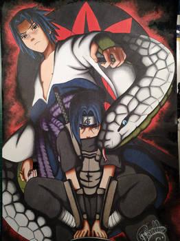 Drawing Sasuke and Itachi - Naruto