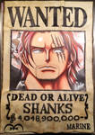 Drawing Wanted Poster of Shanks - One Piece. by LoLoOw