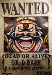 Drawing Wanted Poster of Gol D. Roger - One Piece. by LoLoOw