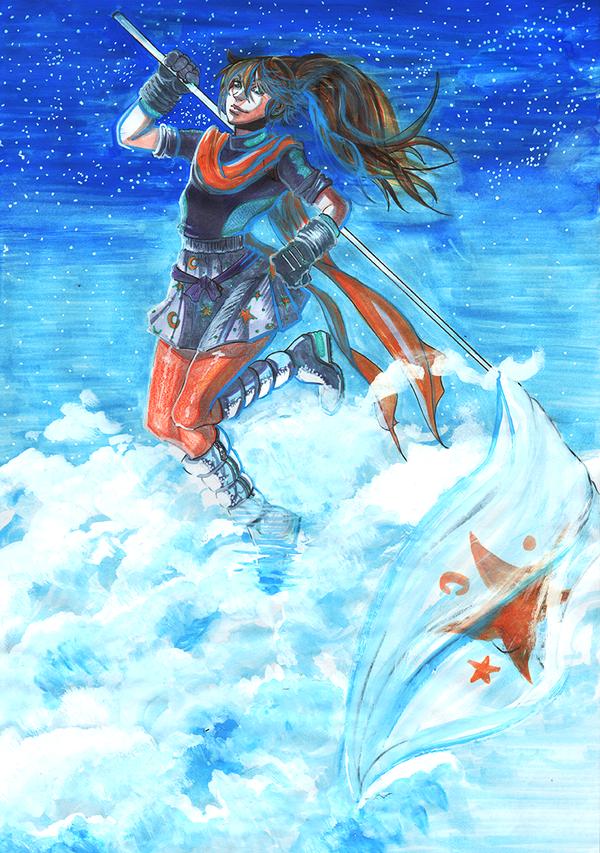 Space Girl in the Sky by PhoenixRoy