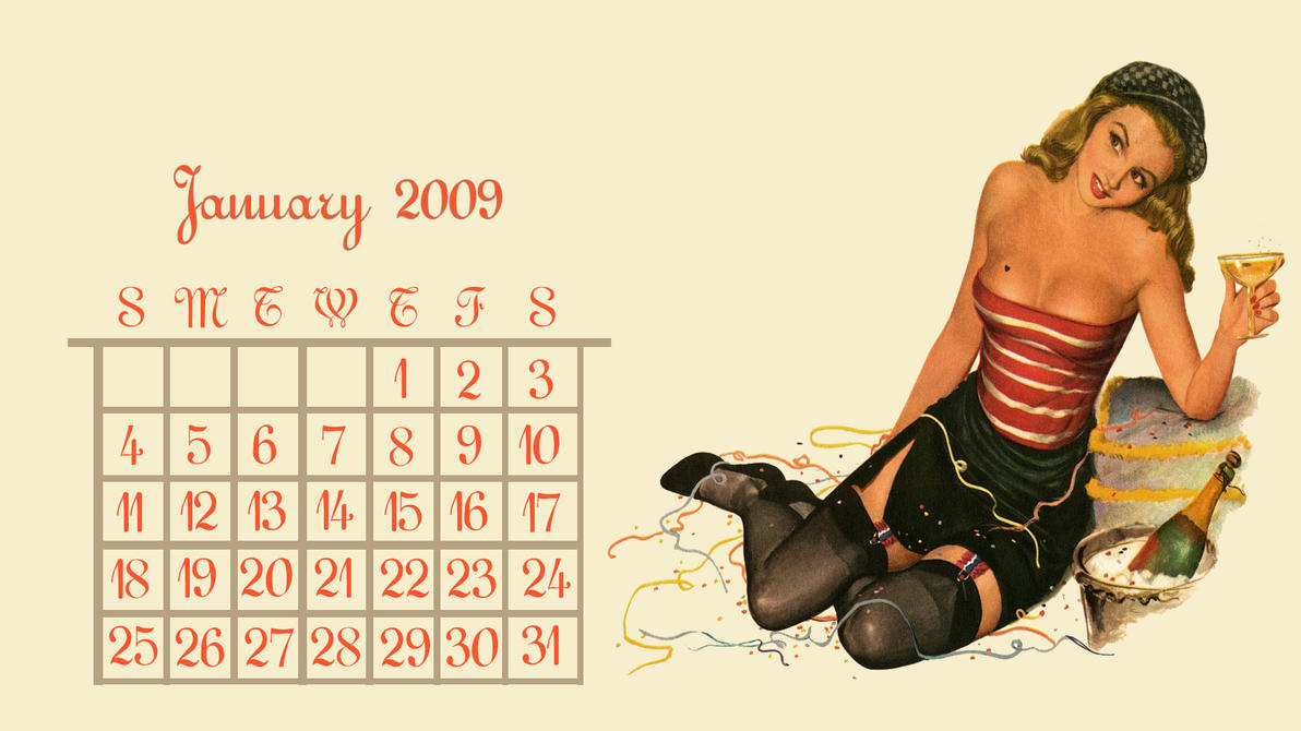 January Calendar Girl : Calendar girl january by yorksensation on deviantart