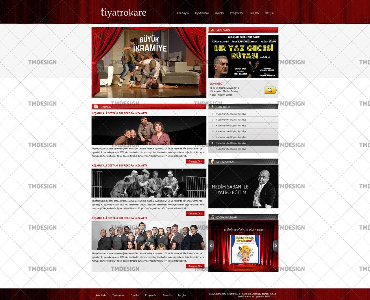 Tiyatrokare Web Arayüz Çalışması