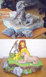 king lion diorama by chuchorojas