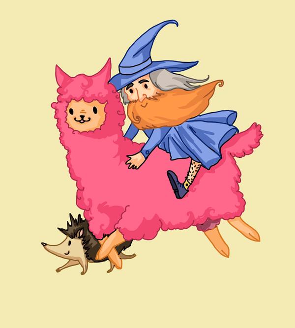 Run llama, run! by GrannyFoxy