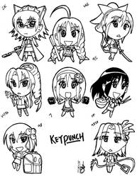 Keypunch OS-tan Chibis by HaloCapella