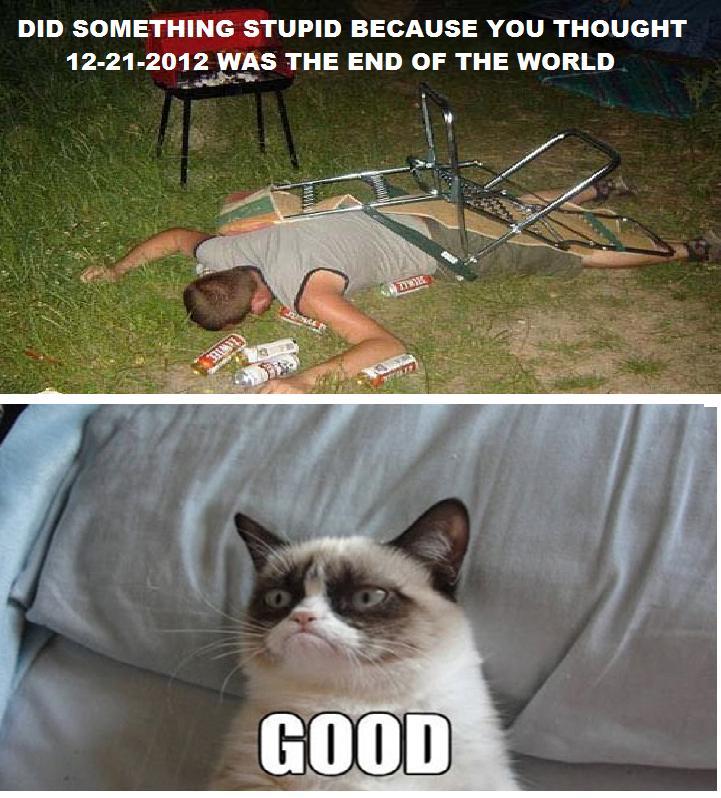 12/21/2012 Grumpy Cat Meme by RosemarieAlexandra