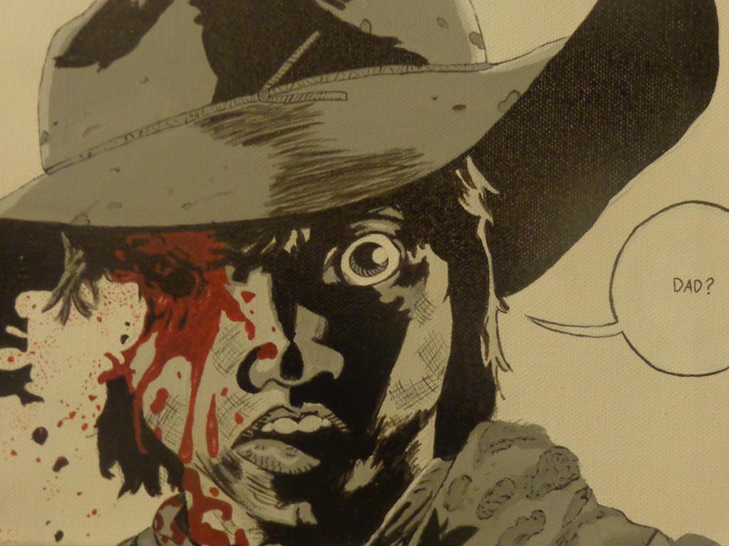 Carl The Walking Dead Comic By Soufflegirlsshop