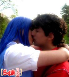 Akane Ranma kiss by AsuZero