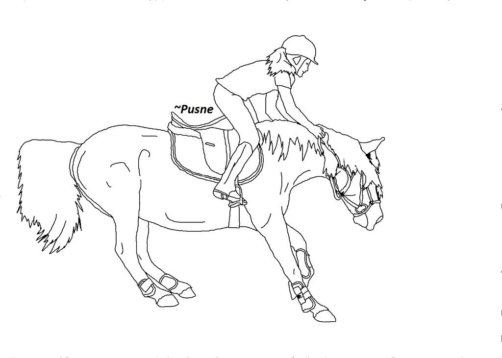 how to draw someone riding a horse step by step