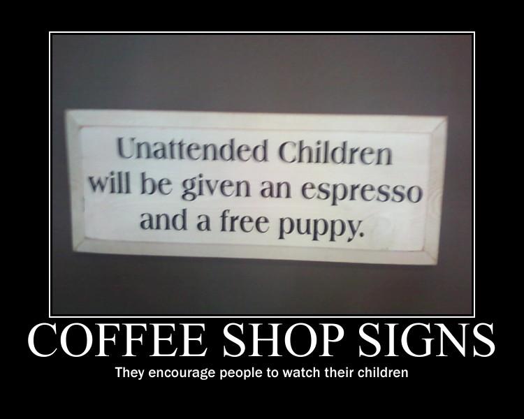 Coffee Shop Signs by Yusacream