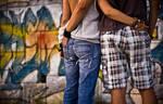 a graffiti couple