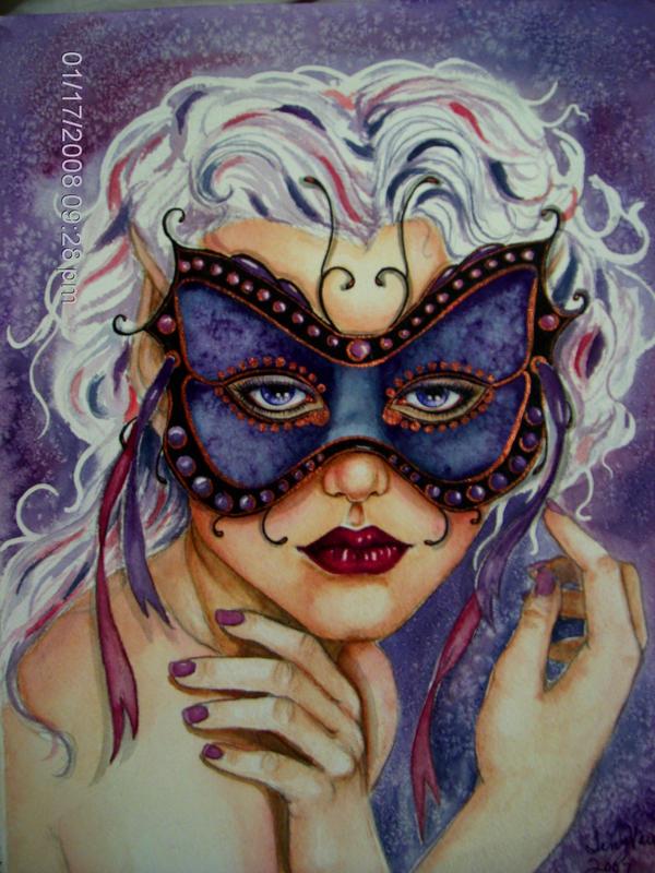 Masked Beauty by artwoman3571
