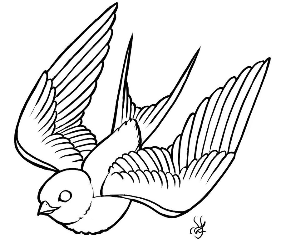 Swallow Tattoo Line Drawing : Swallow inc by ex skydoll on deviantart