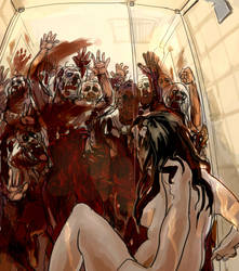 zombies in bath by Silsol