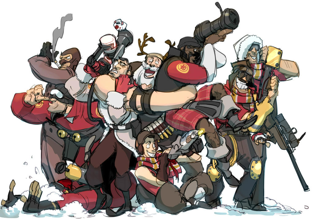 tf2 christmas by Silsol