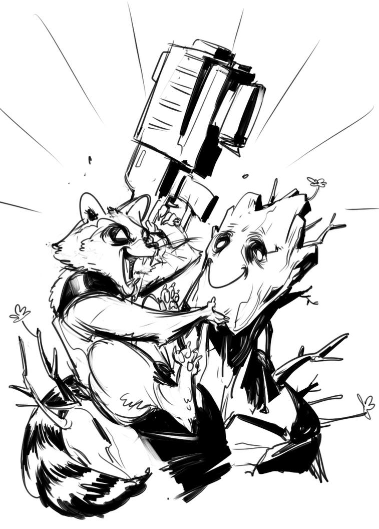 rocket and groot by Silsol on DeviantArt