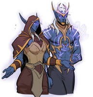 WoW Arluelle and Silgryn by Silsol