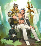 MHW Talini and handler