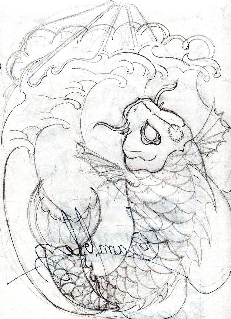 Evil Koi Fish Drawing