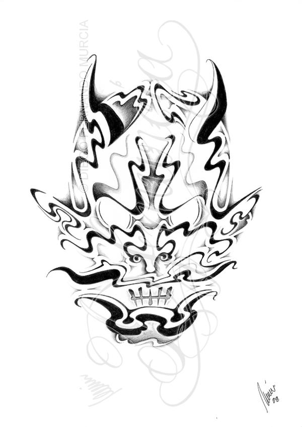 Japanese Smoke Drawing Smoke hannya by dfmurcia